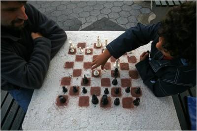 Stencil Chess Board