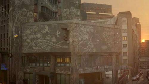 Reverse Graffiti Ad For Miller