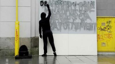 Graffiti Statue by Mathieu Tremblin