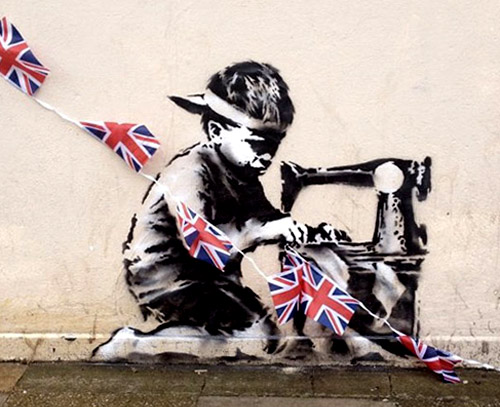 New Banksy Work in London - Child Labour in the UK