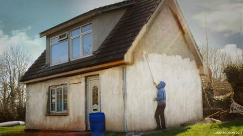 Graffiti On A House