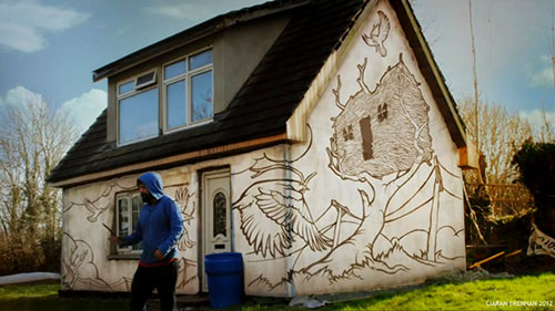Graffiti On A House