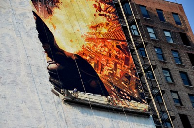 The Dark Knight Rises Street Art