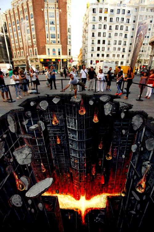 The Dark Knight Rises Chalk Street Art