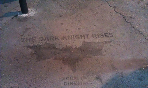 The Dark Knight Rises Cinema Stencil