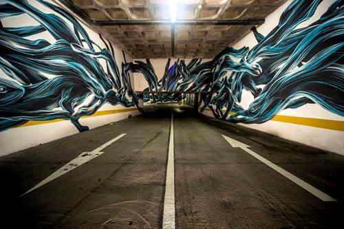Rabbits Street Art By Pantonio
