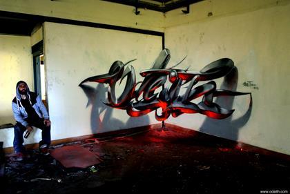 Odeith's Anamorphic Graffiti