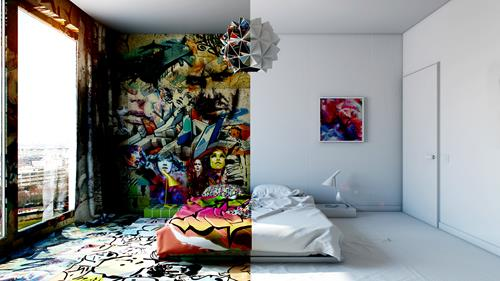 Pavel Vetrov's Graffiti Room