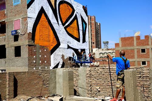eL Seed's Cairo Mural