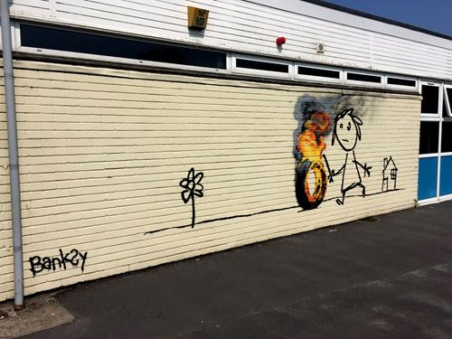 Elementry School House Named After Banksy Receives A Mural