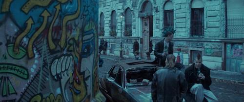 Atomic Blonde's Stencil Graffiti Titles