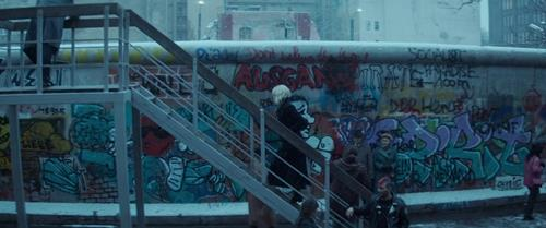 Atomic Blonde's Stencil Graffiti Titles