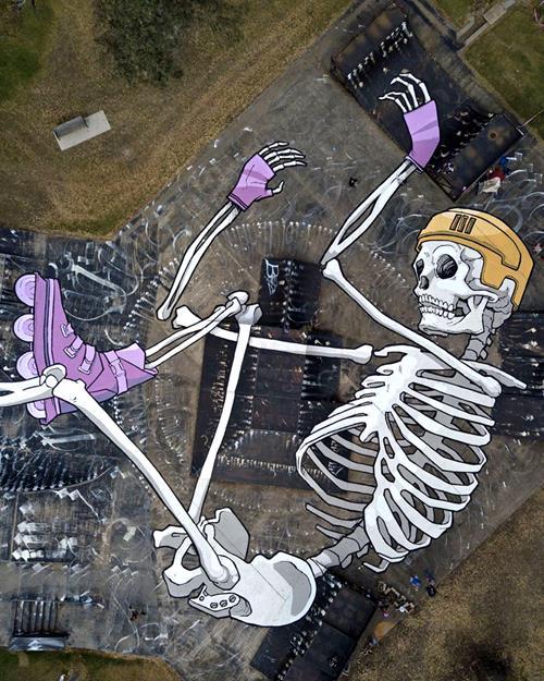 Kitt Bennett Gigantic Ground Murals