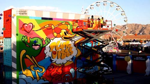 Graffiti Mapping At EDC Las Vegas 2019
