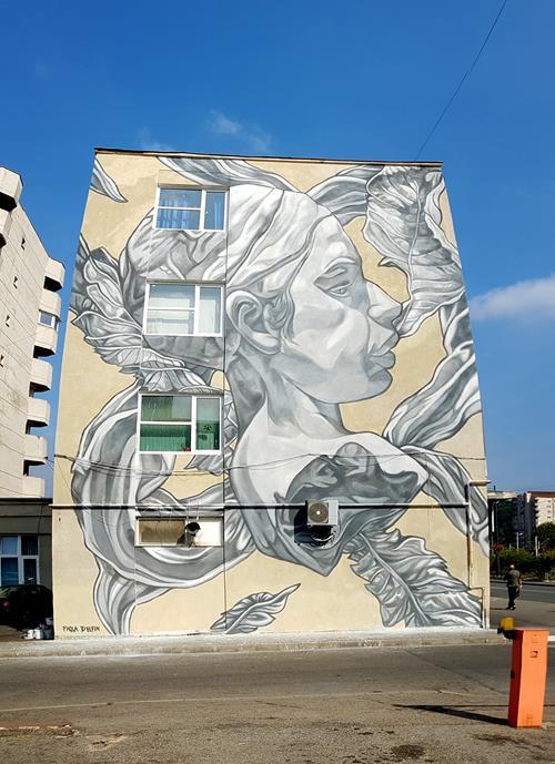 Paola Delfin Mural in Resita