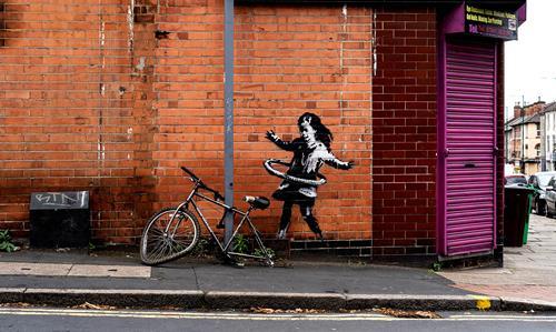 Banksy's Hula-hoop Girl